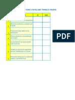 lista de cotejo para autoevaluar trabajo grupal