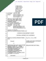 Bengal Mangle v. MacFarlane - Ted Talking Bear Copyright Infringement Complaint
