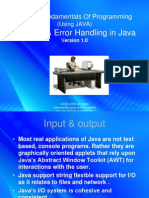 Streams and Error Handling in Java