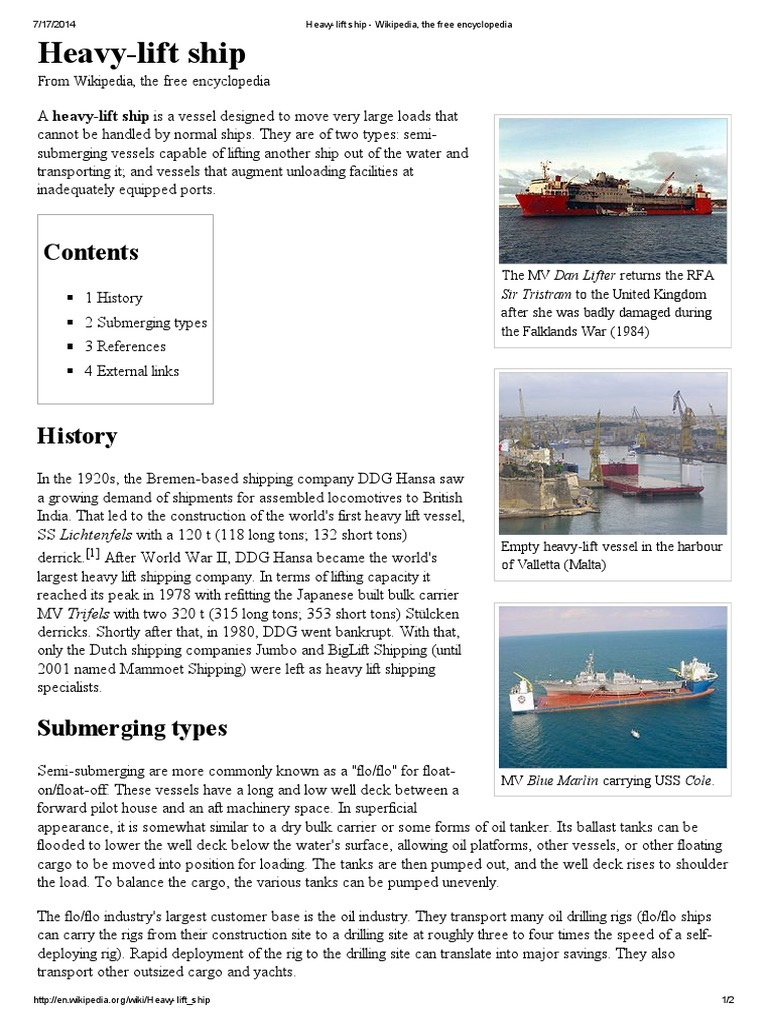 Heavy Lift Ship   Ships   Water Transport