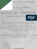 Anon - Manual De Confiteria Pasteleria Reposteria Y Botilleria 1876