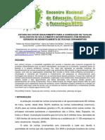 Estudo Do Fator Água Cimento Para a Confecção de Tijolos Ecológicos de Solo-cimento Incorporados Com Resíduos