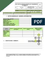 Fo-0176 Site Survey Instalación de Equipos de Transmisión Yo Redes Ip