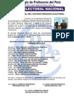 NOTA DE PRENSA - RESULTADOS ELECTORALES