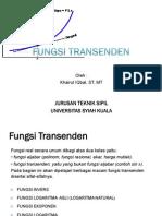 Kalkulus II - Fungsi Transenden