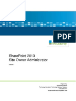 SP 2013 Site Owner Administrator Guide