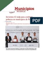 15-07-2014 Municipios Puebla - Invierten 42 mdp para combatir pobreza en municipios de Puebla.