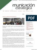 Ibarra W. 2010 Que Es La Comunicacion Estrategica