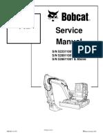 Bobcat 442 Mini Excavator Service Manual