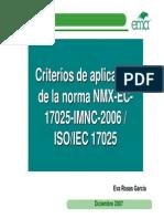 Criterios 17025 EMA