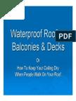 Waterproof Rooftop Decks