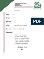 Informe Final de Estadística Intervalos de Confianza