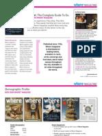 Where Magazine Media Kit