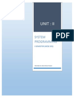 System Programming Unit-2 by Arun Pratap Singh