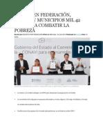 16-07-2014 Hechos de Atlixco - INVIERTEN FEDERACIÓN, ESTADO Y MUNICIPIOS MIL 42 MDP PARA COMBATIR LA POBREZA -.
