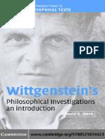 David G. Stern,  Wittgenstein's Philosophical Investigations