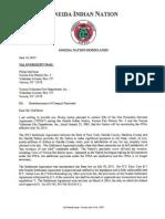 Oneida Indian Nation Letter to Verona Fire District (Philip Duchene