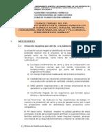 Plan de Trabajo Mejoramiento Genetico en El Ganado Ovino en Los Distritos de Huánuco