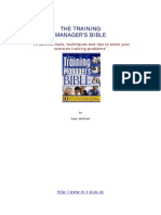 Training Managers Bible