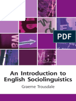 An Introduction to English Sociolinguistics