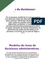 Modelos de Toma de Decisiones Administrativas