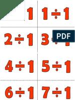 Division Tables Labels