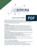 Código de Etica de La NMSBA Neuromarketing