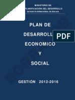 Plan de Desarrollo Económico y Social 2012 - 2016. BORRADOR 22-07-2013
