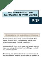 Métodos de Cálculo Para Evaporadores de Efecto Múltiple