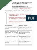 Ejercicios Pre Requisitos HACCP