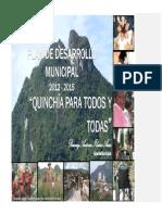 Plan de Desarrollo Municipal Quinchia 2012 2015 Decretado