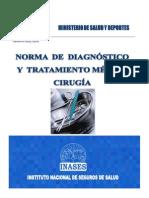 Norma de Diagnostico y Tratamiento en Cirugia