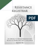 Resistance Registrar e Book