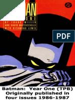 Frank Miller Batman Year One Pdf