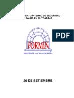 Reglamento Interno de Seguridad de Formin