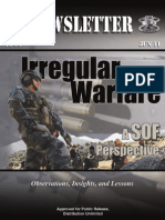 Irregular Warfare A SOF Perspective, Newslatter 11-34, 2011