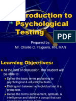 Introduction to Psychological Testing