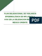 PLAN OPERATIVO DELEGACIONAL DE PREPARACIÓN Y RESPUESTA ANTE UNA EPIDEMIA DE INFLUENZA  A(H1N1)