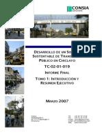 Chiclayo Informe Final Tomo 1