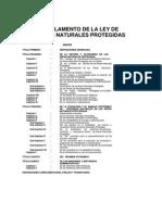 Reglamento La Ley de Areas Naturales Protegidas