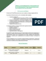 Plan Estudios Investigacion Innovacion Tic 30042014