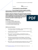 A Communication Assessment for Managers