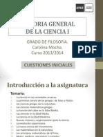 HIST GRAL CIENCIA I. Cuestiones Iniciales 2013 2014