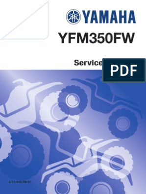 LIT-11616-FM-37 1987-1997 Yamaha YFM350FW Big Bear ATV Service Manual