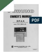 Fax208 Operator Manual