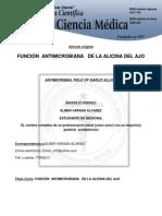 Funcion Atimicrobiana de La Alicina Del Ajo