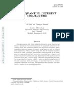 Quantum Interest Conjecture