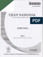 Naskah Soal UN IPA SMP Th 2014 Paket 01