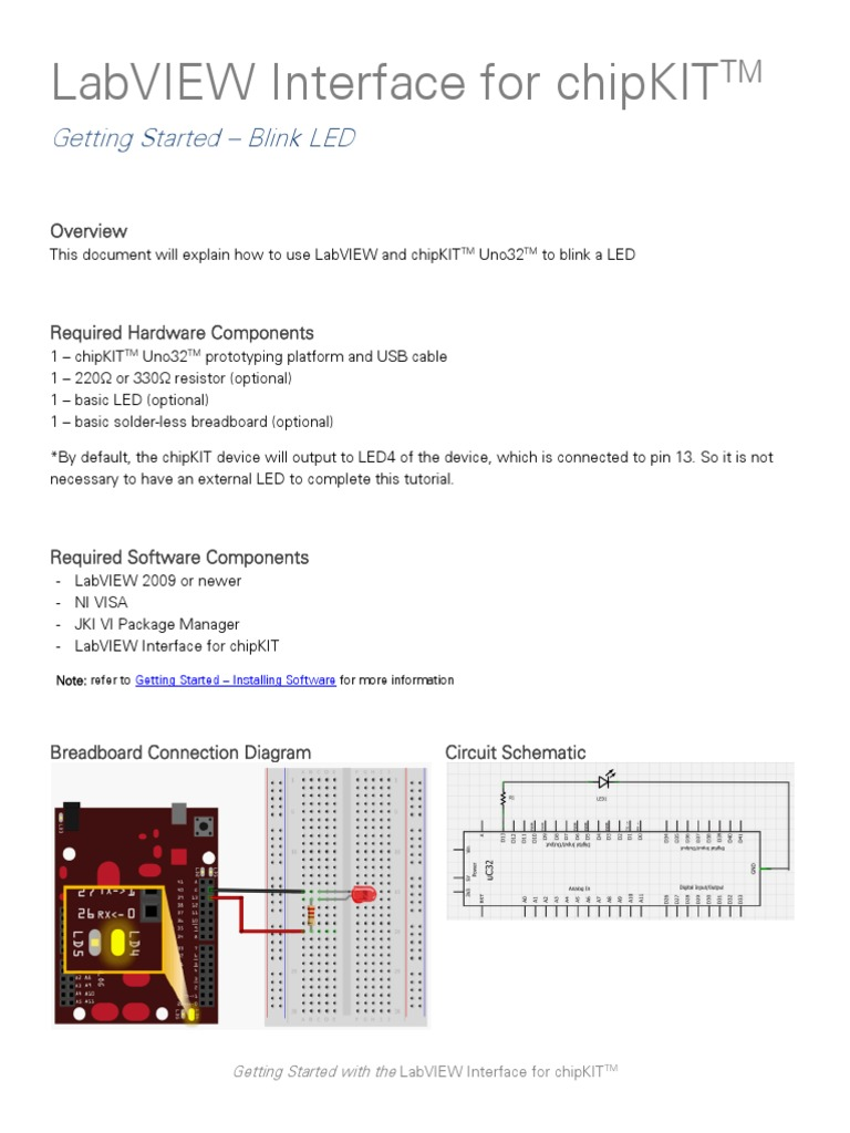 Chipkit Blink Led Tutorial Control Flow Graphical User Interfaces Blinking Circuit With Schematics And Explanation