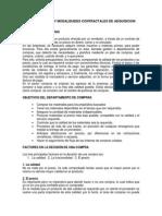 Tipos de Compra y Modalidades Contractales de Adquisicion